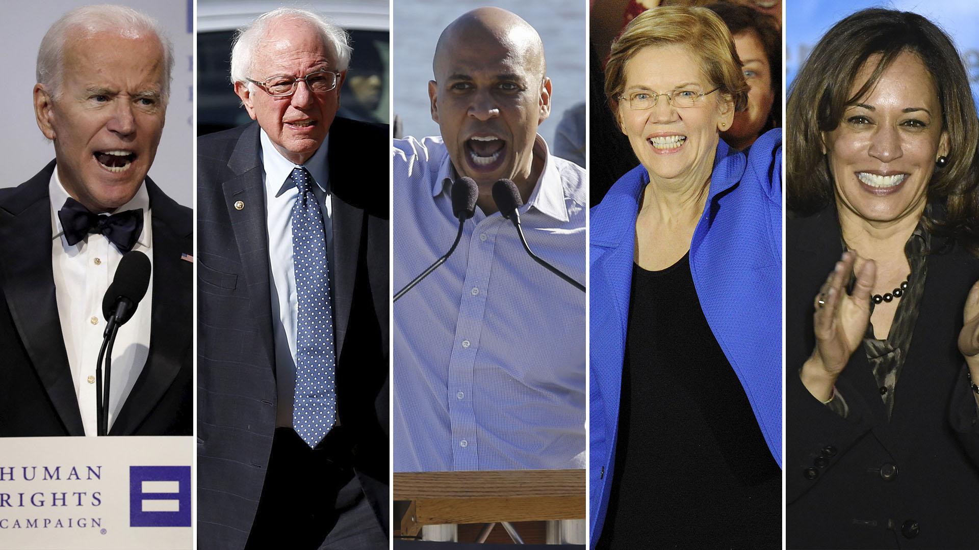 Parte de los líderse demócratas que podrían competir contra Trump (Reuters/AFP)