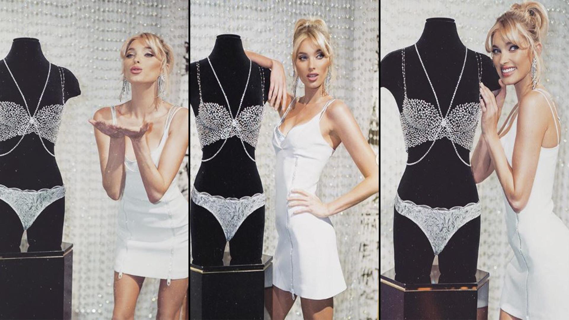 """Elsa Hosk será la primera modelo sueca en lucir en el desfile de Victoria´s Secret Fashion 2018 el nuevo diseño de """"Fantasy Bra"""", valuado en 1 millón de dólares y cubierto de diamantes"""