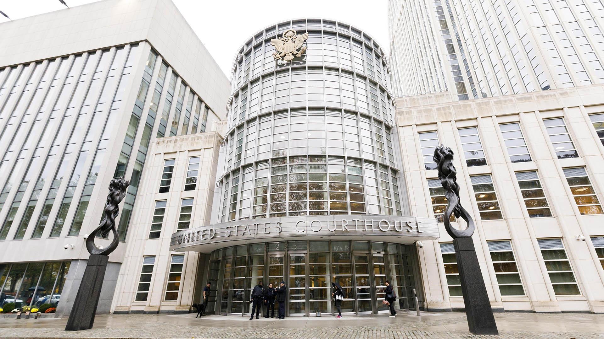 La Corte de Nueva York donde se realiza el juicio contra El Chapo (Foto: EFE)