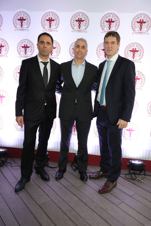 Carlos Mattera junto al CEO de Loma Negra, Sergio Faifman, y el Dr Jorge De All