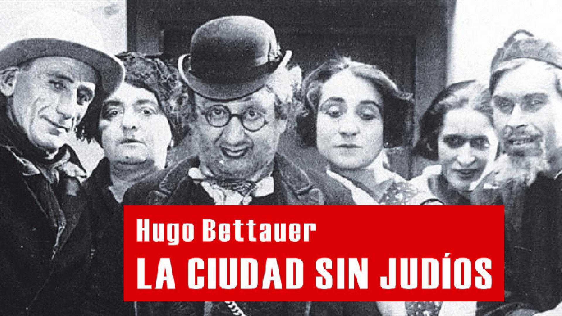 """Tapa del libro que dio argumento a la película muda """"Ciudad sin judíos"""", estrenada en 1924, que profetizó el Holocausto."""