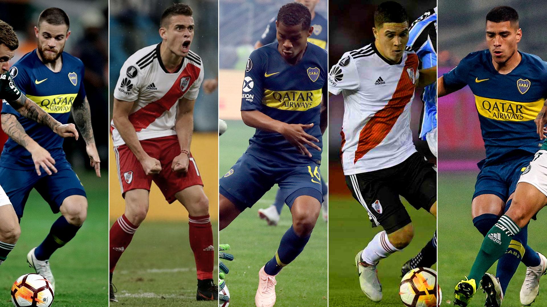 Nandez, Santos Borré, Barrios, Quintero y Olaza son algunos de los sudamericanos de Boca y River