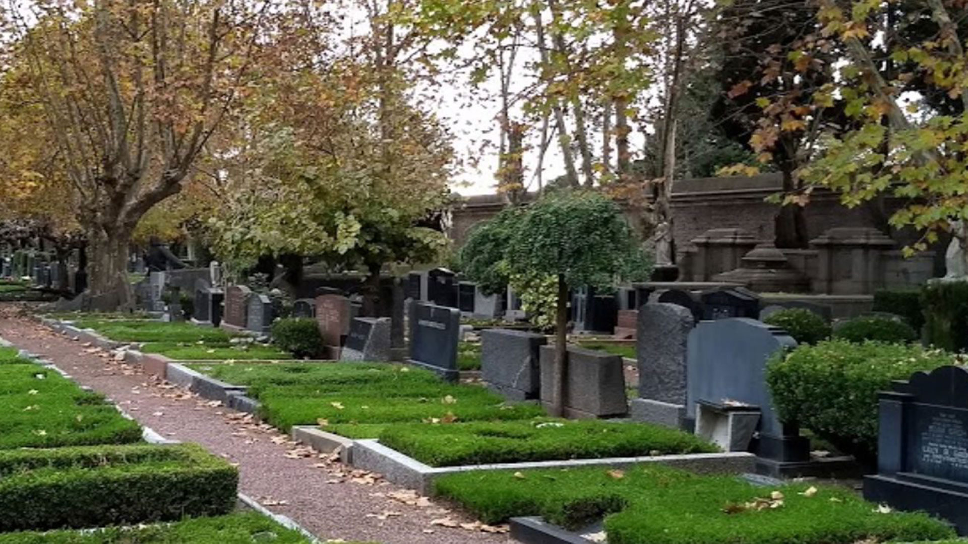 El sector alemán en el Cementerio de la Chacarita