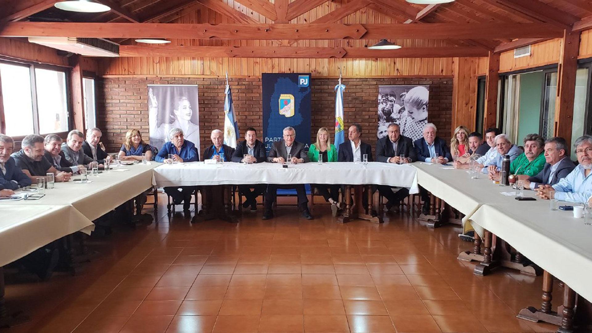 El encuentro de dirigentes peronistas en la sede del PJ