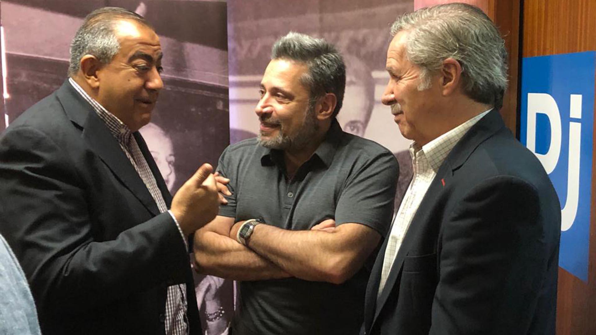 Felipe Solá, Víctor Santa María y Hector Daer