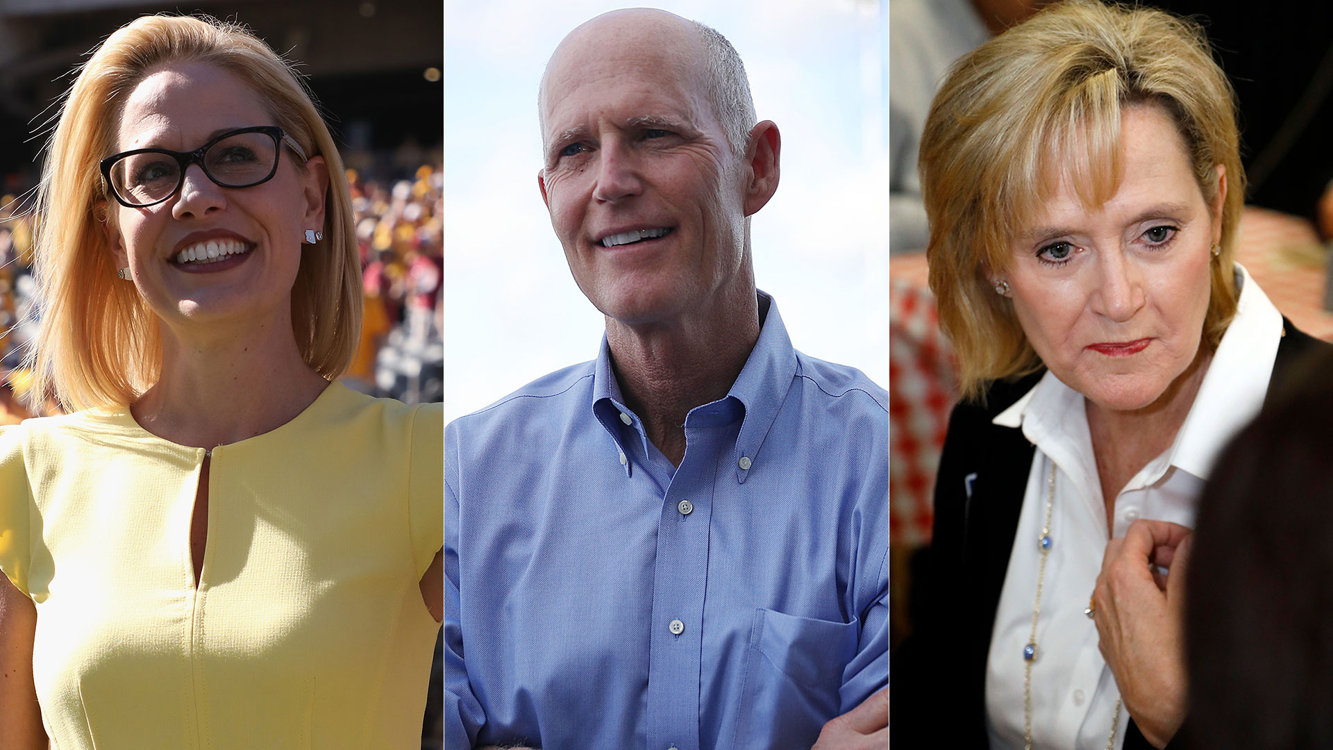 Kyrsten Sinema, Rick Scott y Cindy Hyde-Smith encabezan la disputa por bancas en Arizona, Florida y Mississippi