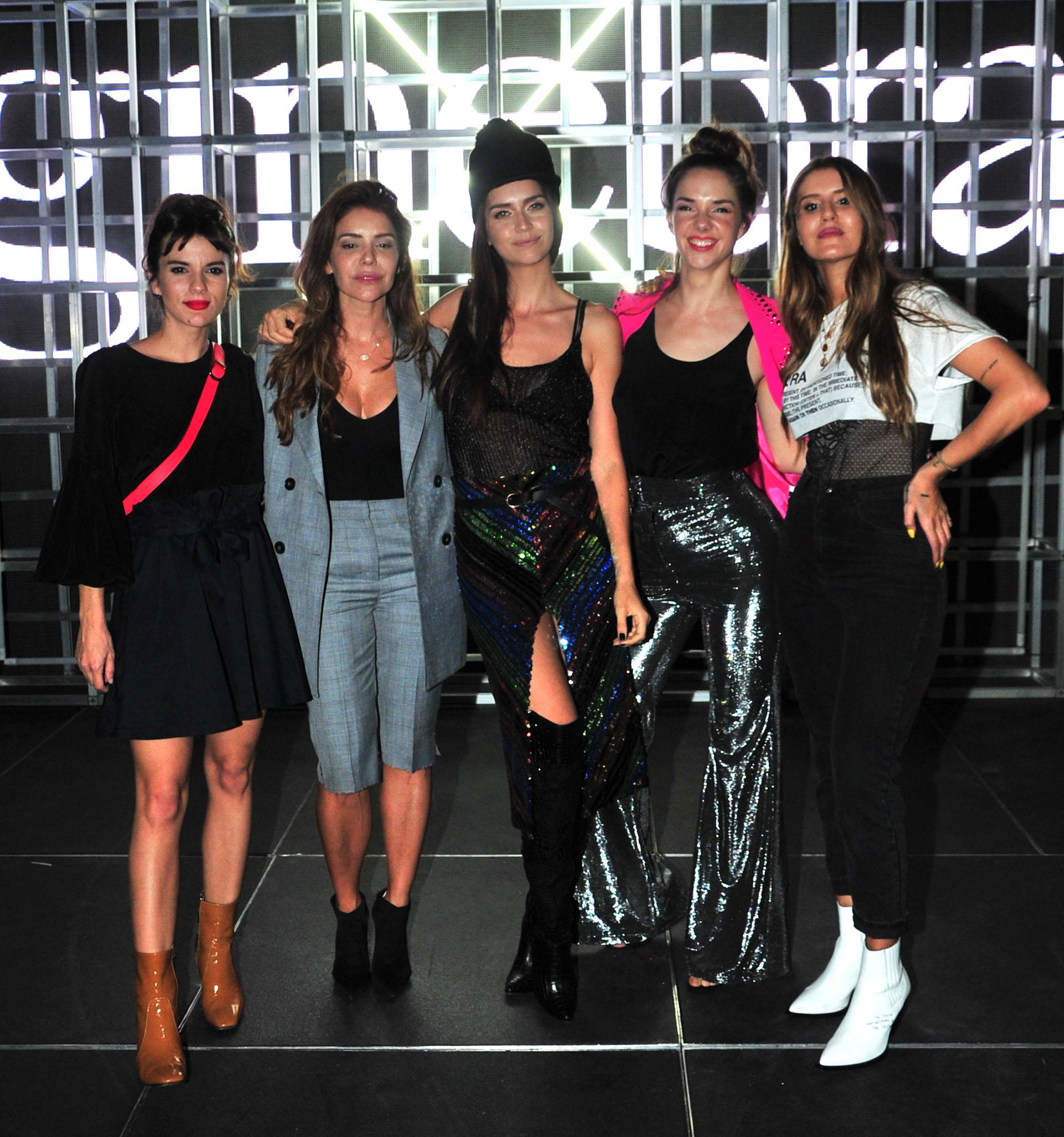 Gimena Accardi, Romina Pigretti, Zaira Nara, Julieta Nair Calvo y Micaela Tinelli