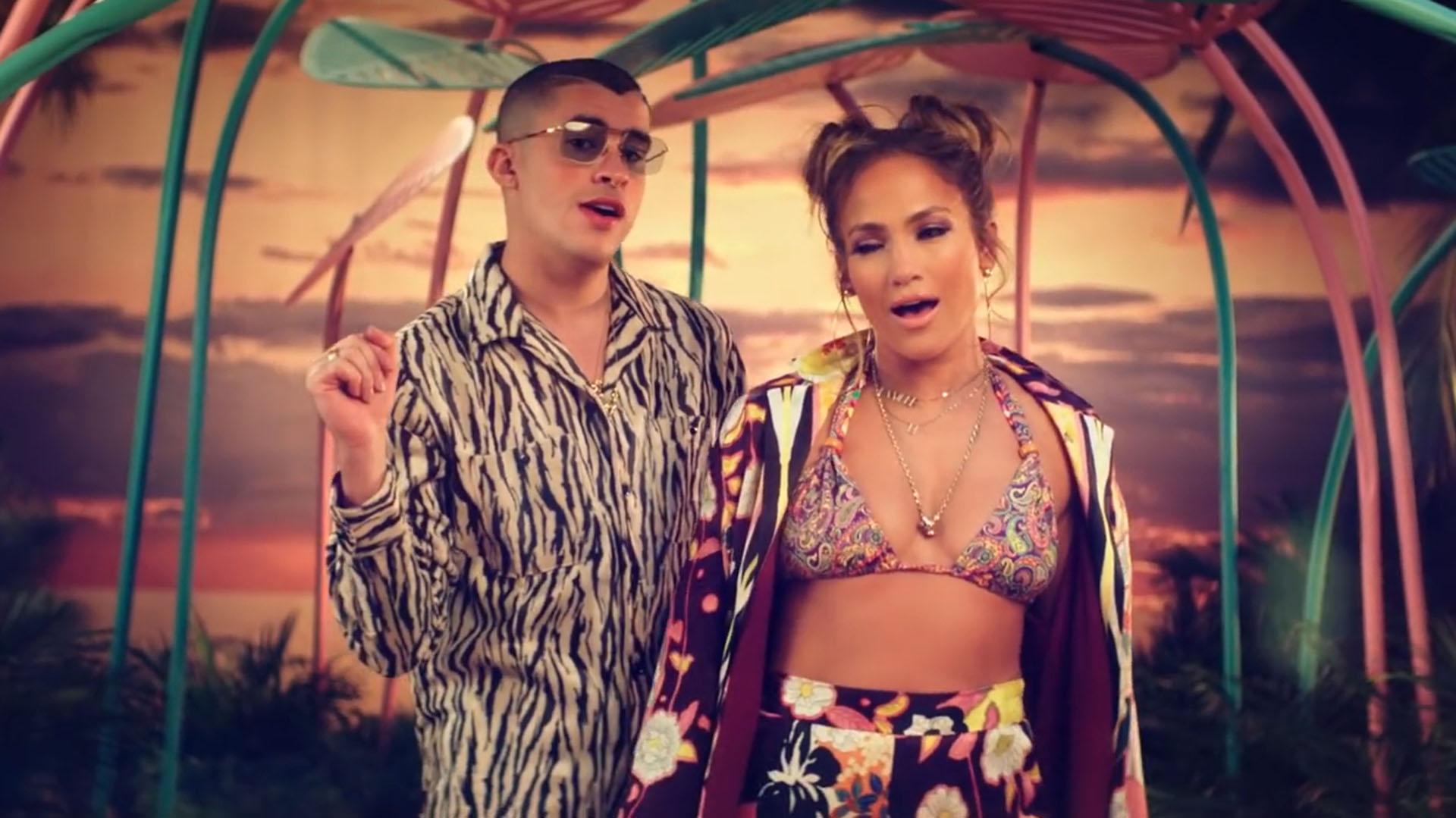 """Jennifer Lopez y Bad Bunny lanzaron la canción de """"Te Guste"""" (Foto: Archivo)"""