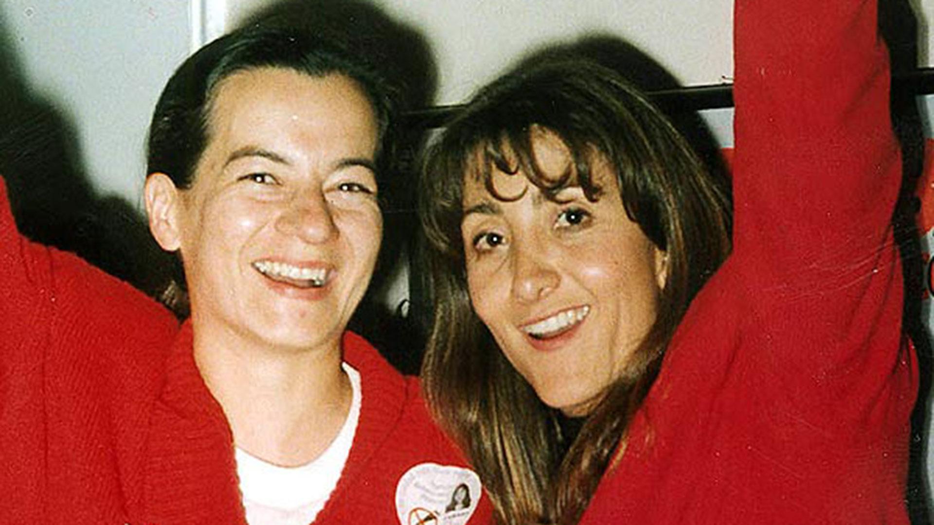 Clara Rojas y la entonces candidata a la presidencia, Ingrid Betancourt.