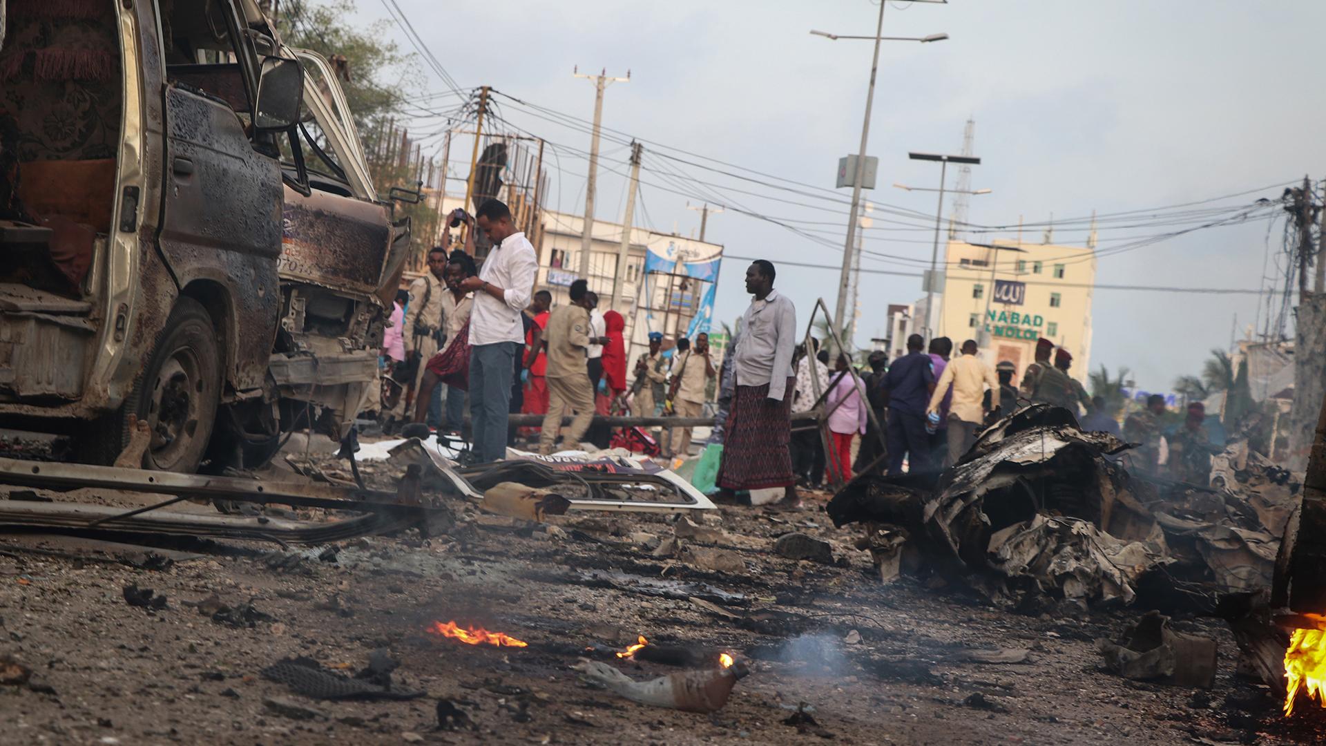 Al menos 20 personas murieron y 40 resultaron heridas en un atentado en Somalia (AFP)
