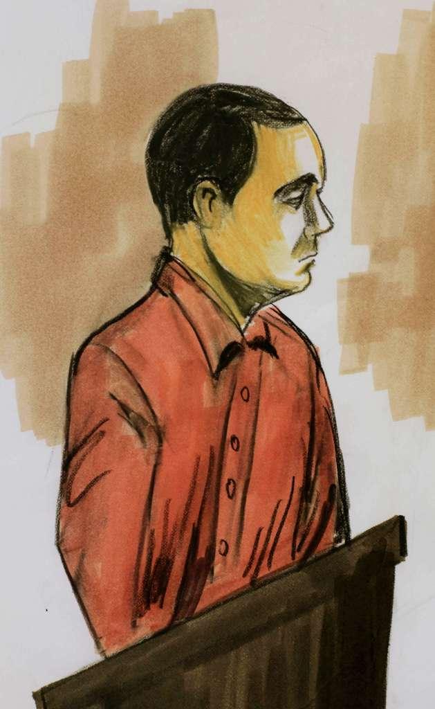 """Dibujo de """"El Vicentillo"""" en la corte. (Foto: AP)"""