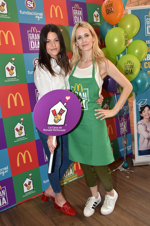 Jujuy y Julieta Prandi: las modelos disfrutaron de una gran jornada solidaria en el local de Olivos