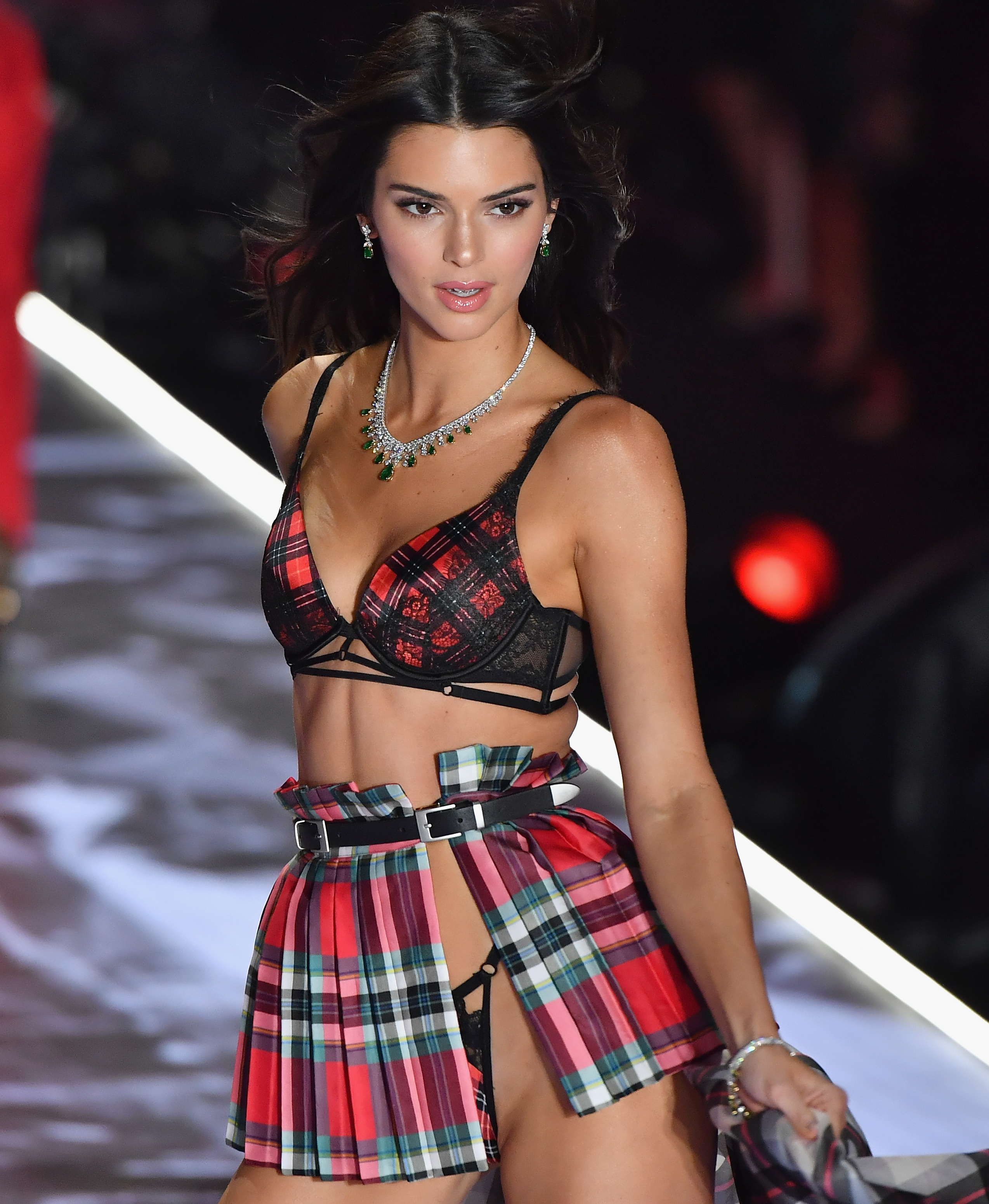 US model Kendall Jenner. (Photo by Angela Weiss / AFP)