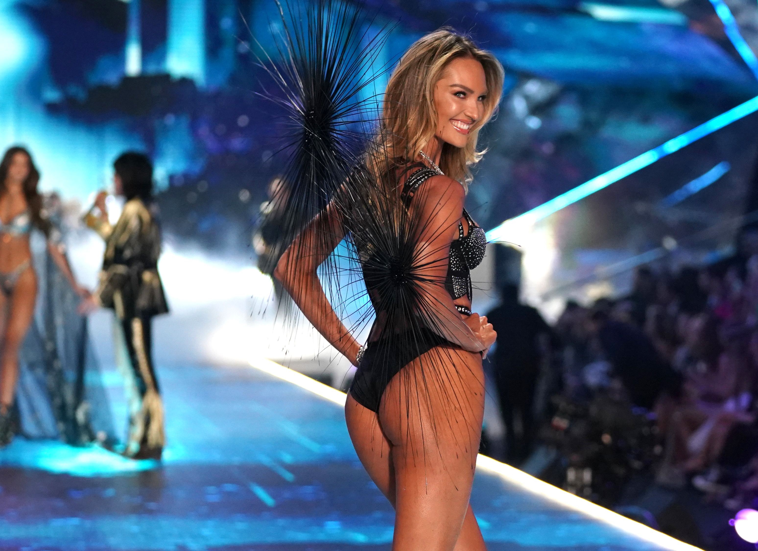 South African model Candice Swanepoel. (Photo by TIMOTHY A. CLARY / AFP)