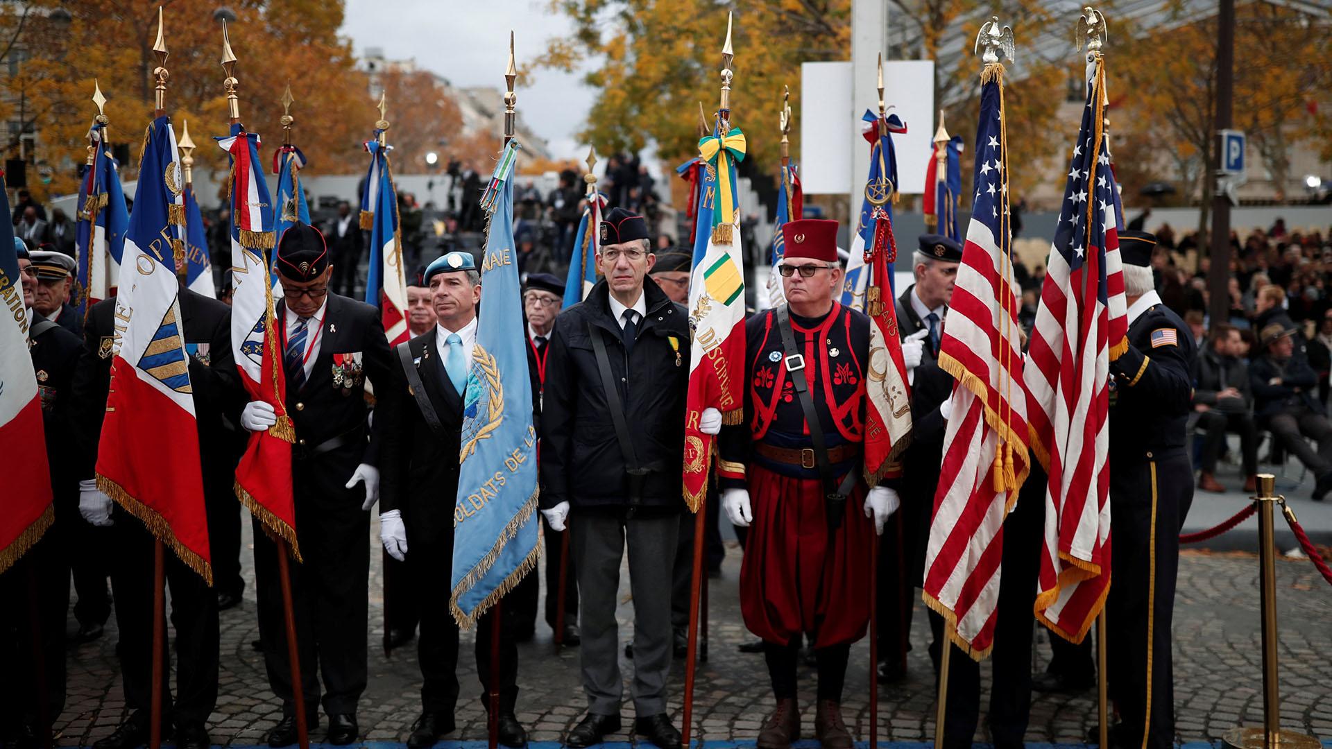 Veteranos franceses y estadounidenses
