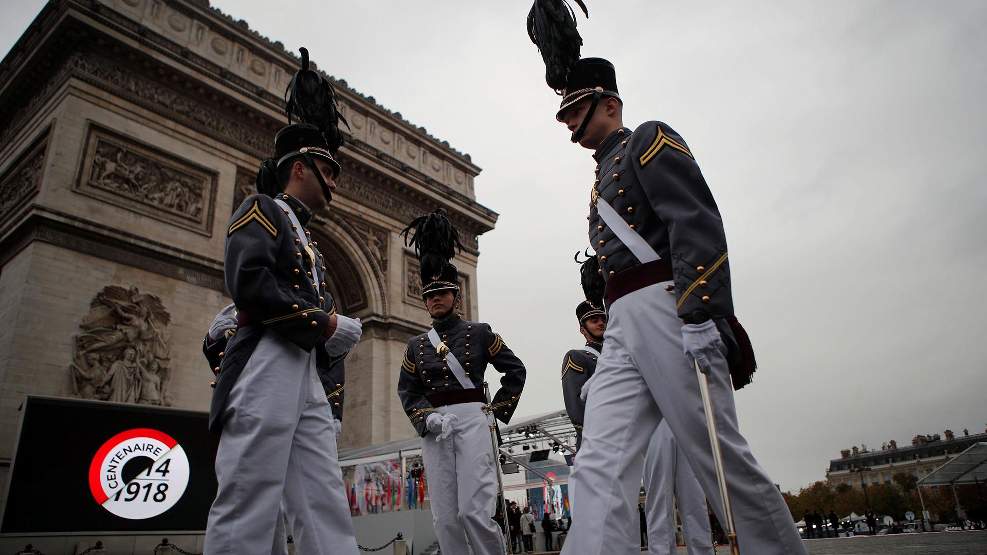 Cadetes de la Academia Militar de Nueva York, Estados Unidos, invitados a la conmemoración