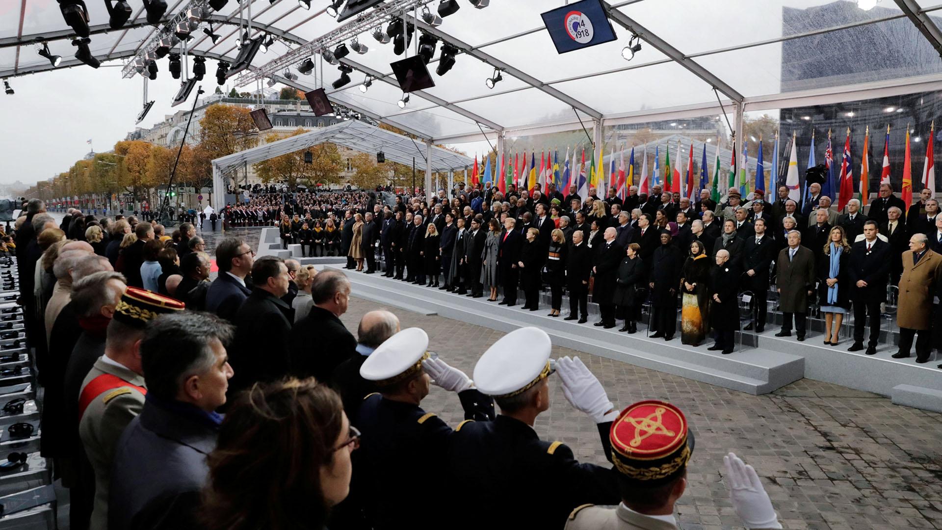 Decenas de jefes de Estado acudieron a la ceremonia