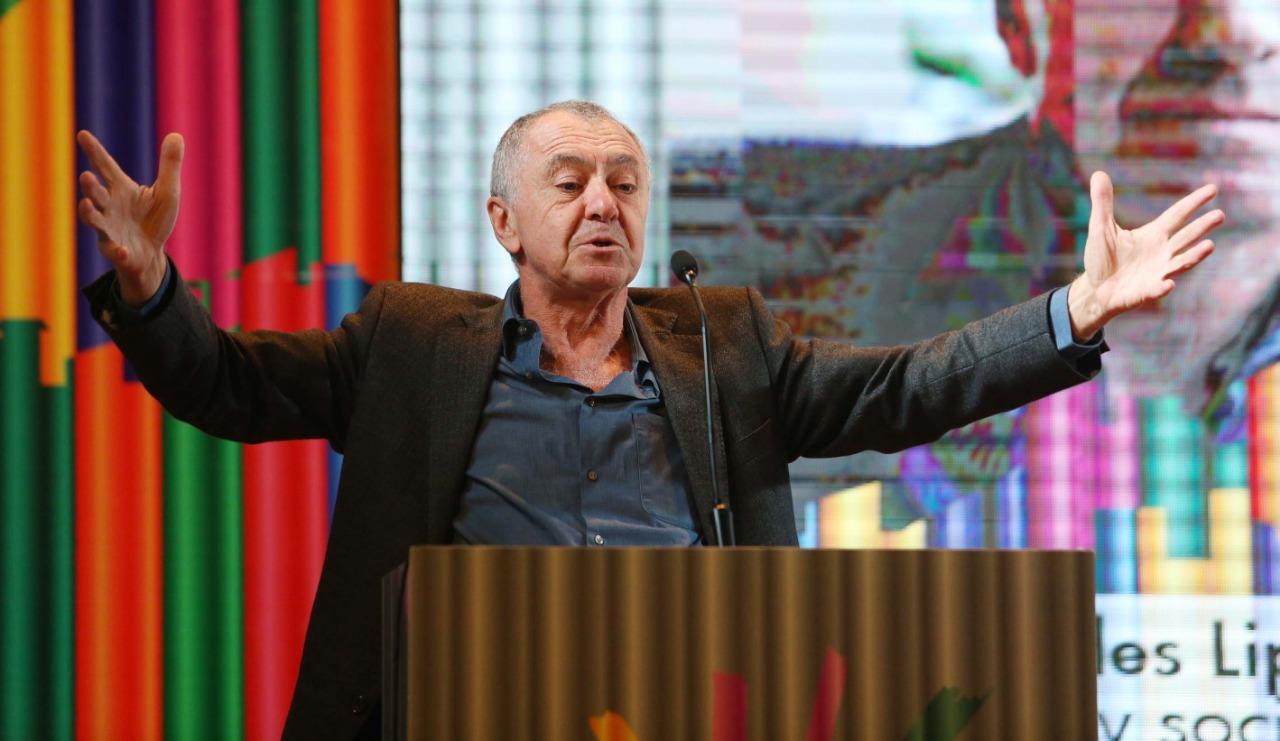 Gilles Lipovetsky el año pasado en Puerto de Ideas (Chile)
