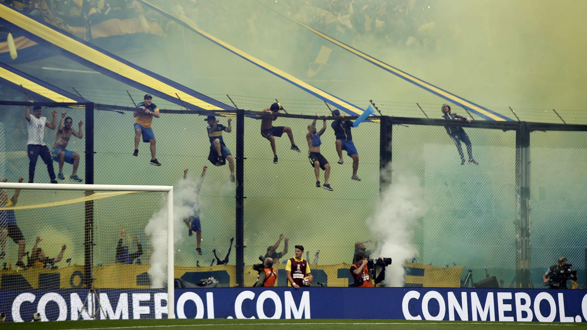 Recibimiento Boca River Copa Sudamericana 21 t