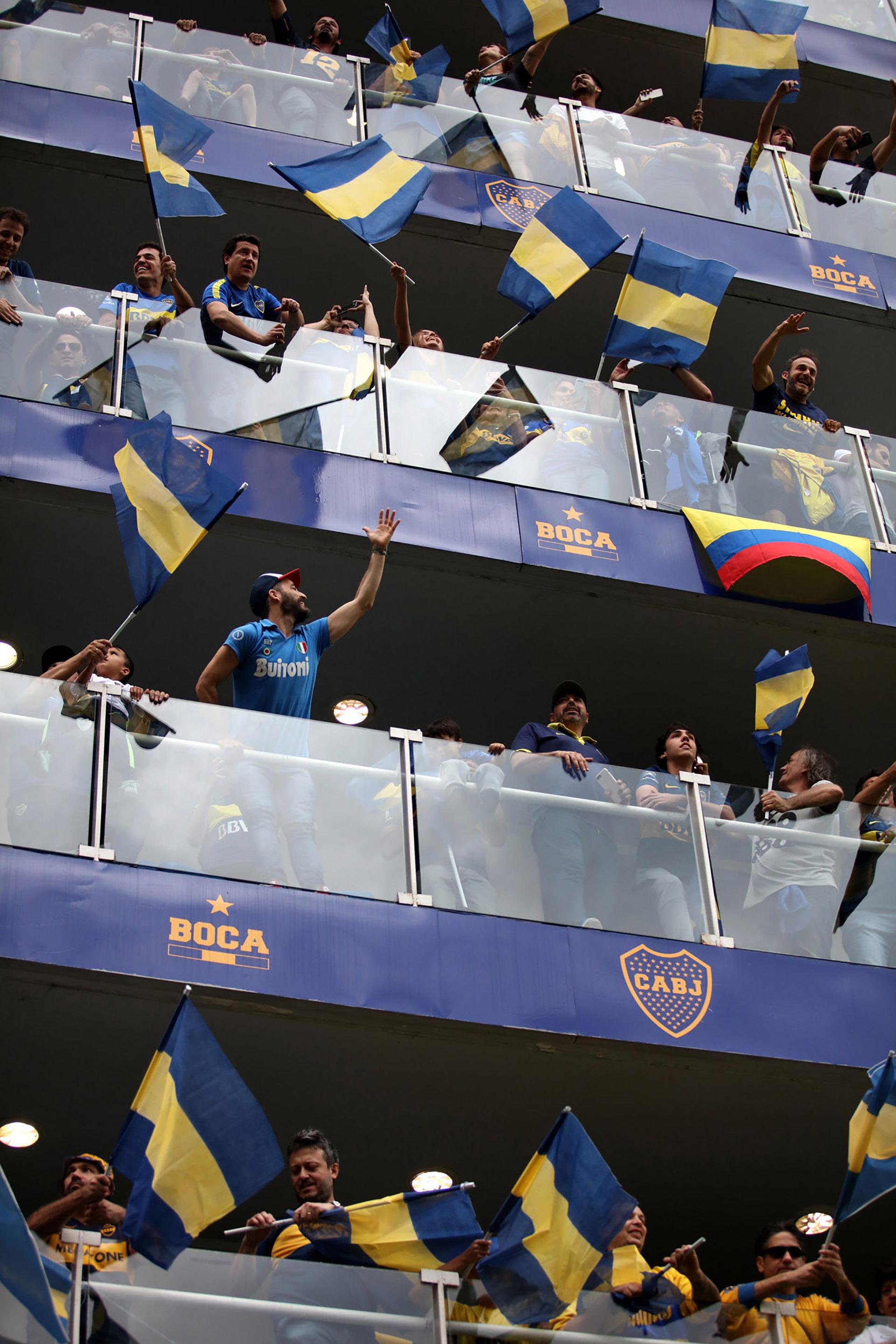 Hubo colombianos presentes en los palcos