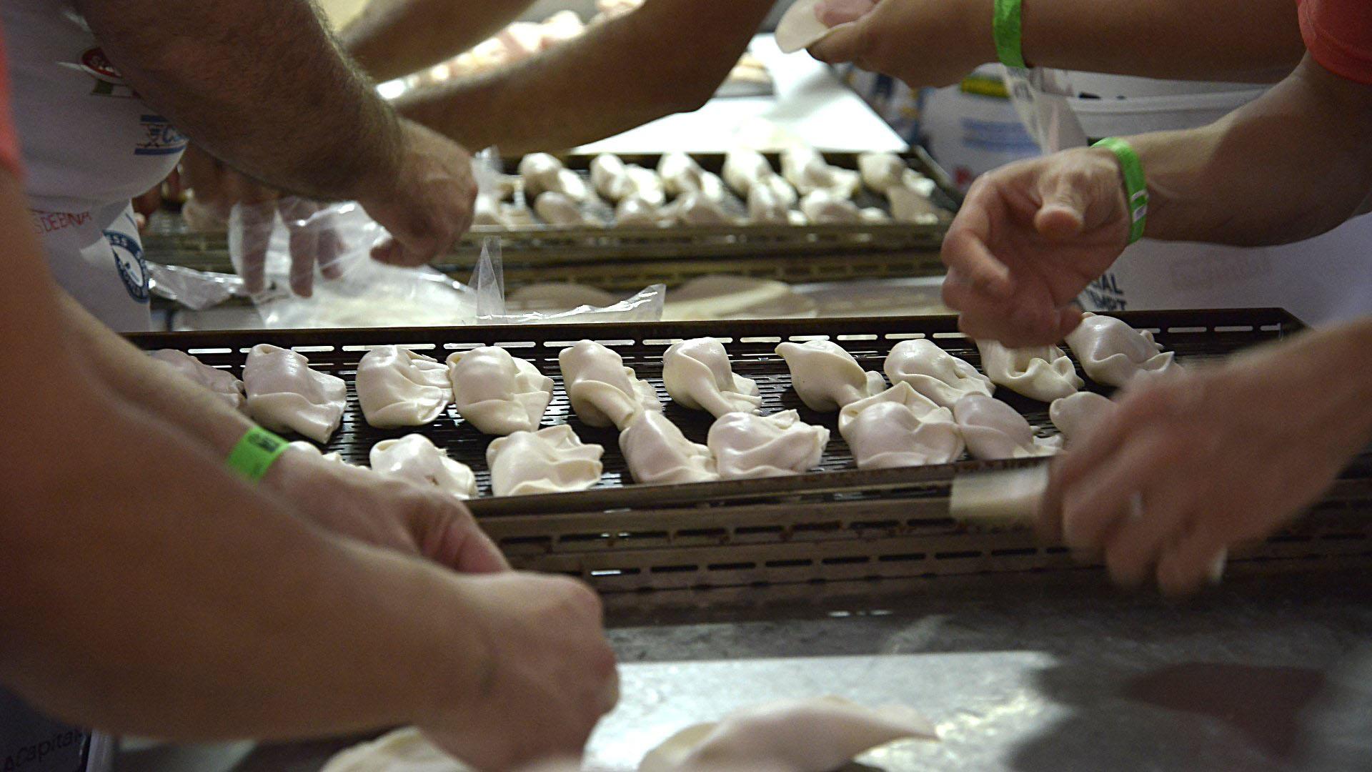 La elaboración de empanadas
