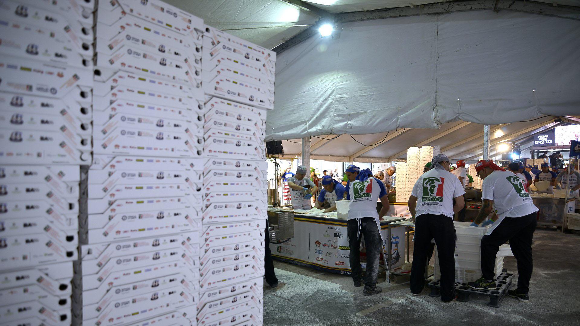Los alimentos utilizados para esta competición fueron donados por diferentes organizaciones