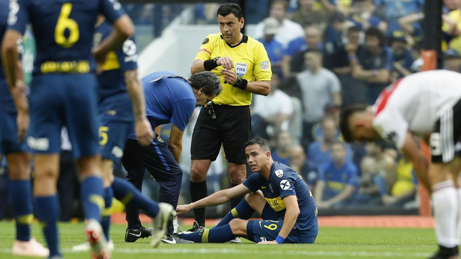 Leonardo Jara salió lesionado