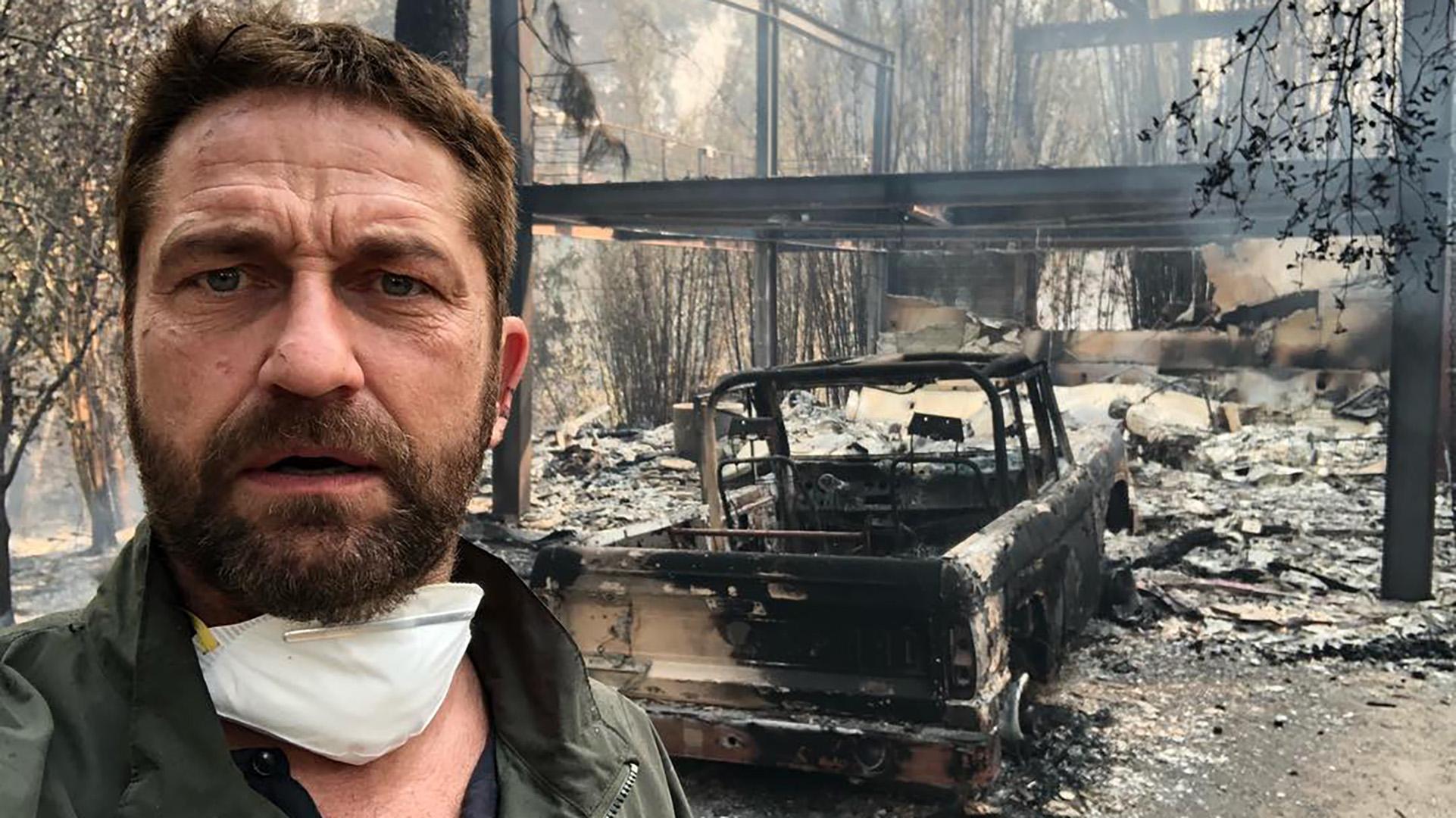 Gerard Butler mostró fotos y videos sobre su propiedad tras los incendios en California