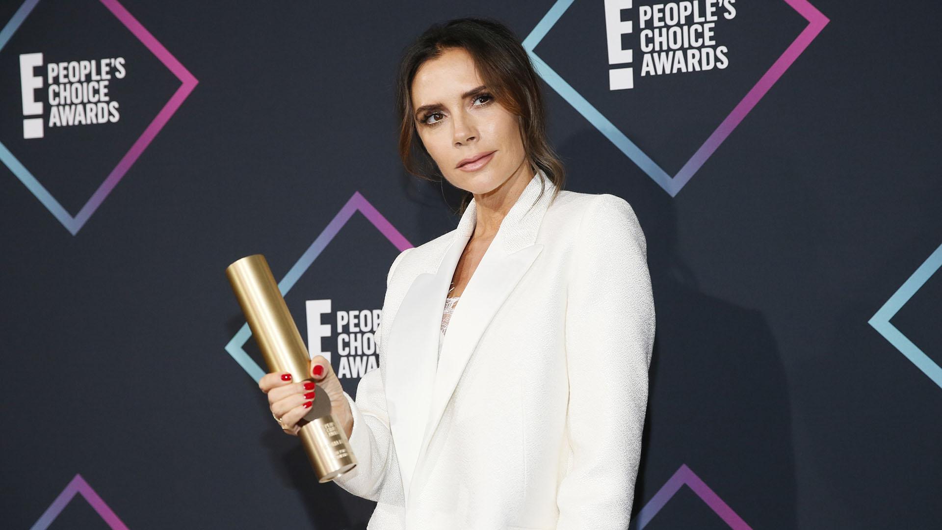 Victoria Beckham ganó el Fashion Icon Award del canal E! este año. REUTERS/Danny Moloshok
