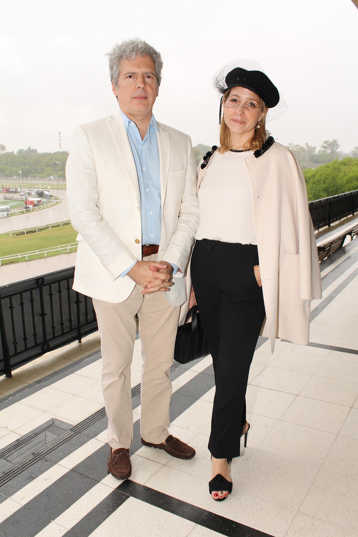 El director ejecutivo del Teatro Colón, Martín Boschet, y Liana Vinacur