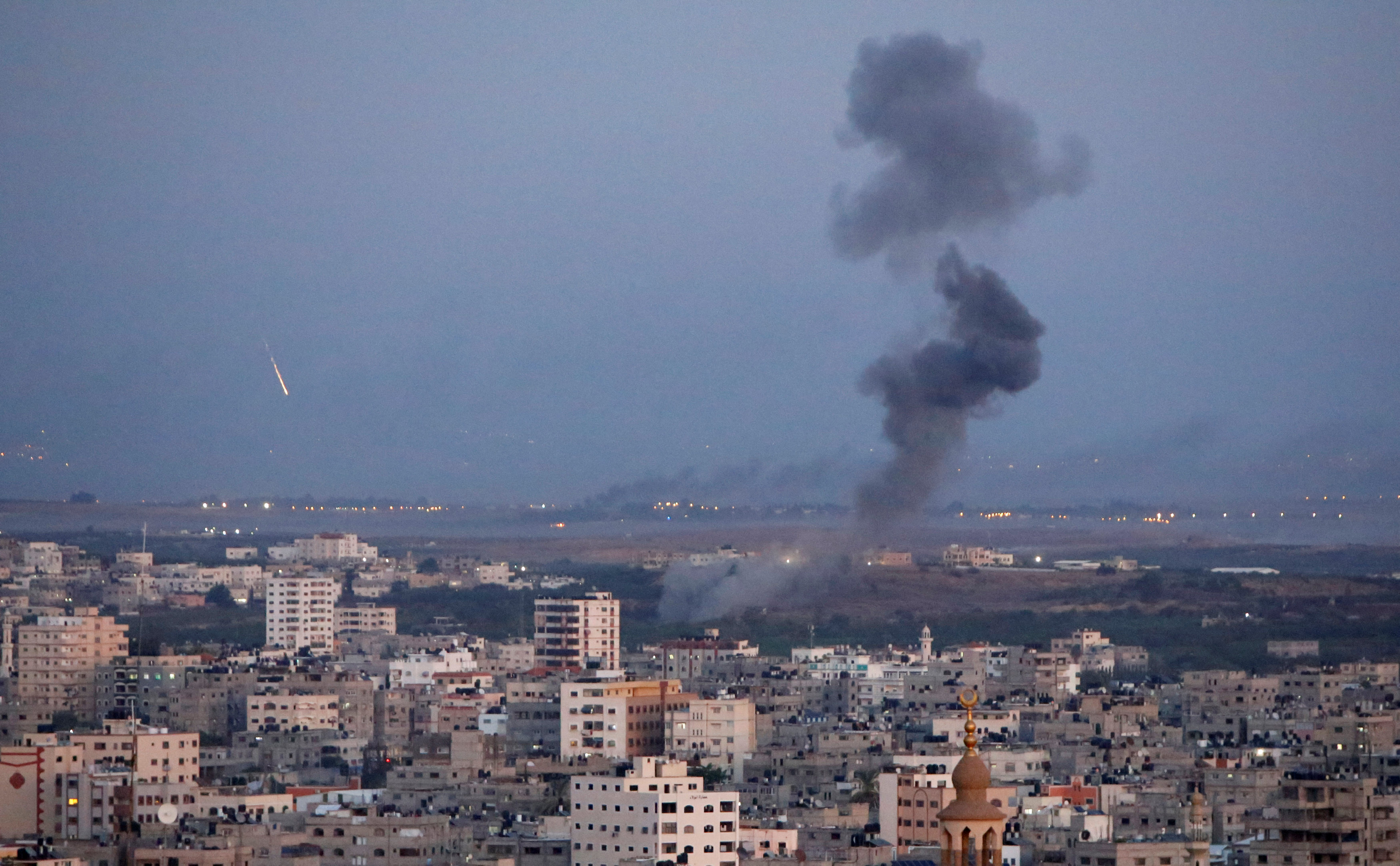 Vista desde Franja de Gaza. (Photo by REUTERS/Ahmed Zakot)