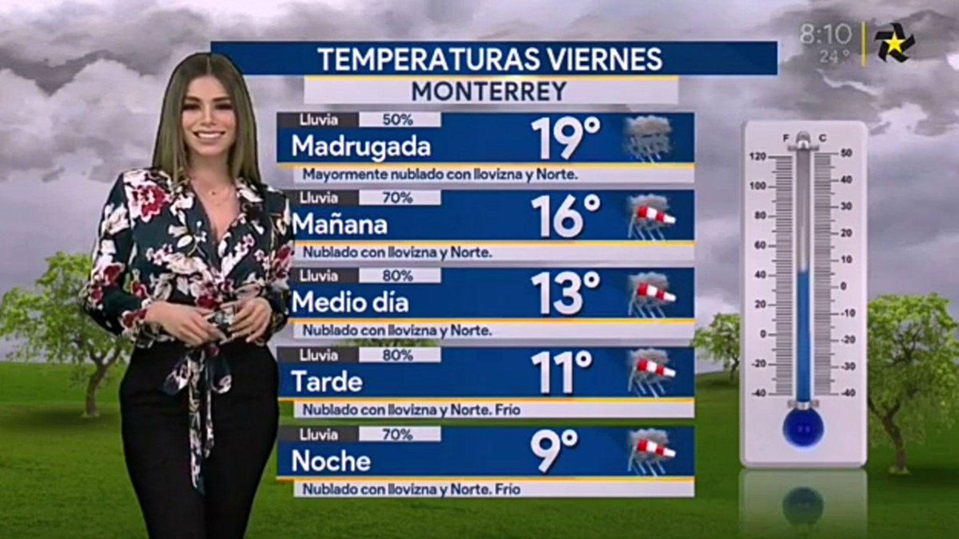 Pamela Longoria trabaja como presentadora del clima en la cadena mexicana Multimedios, que recientemente inició transmisiones a nivel nacional. (Foto: Multimedios)