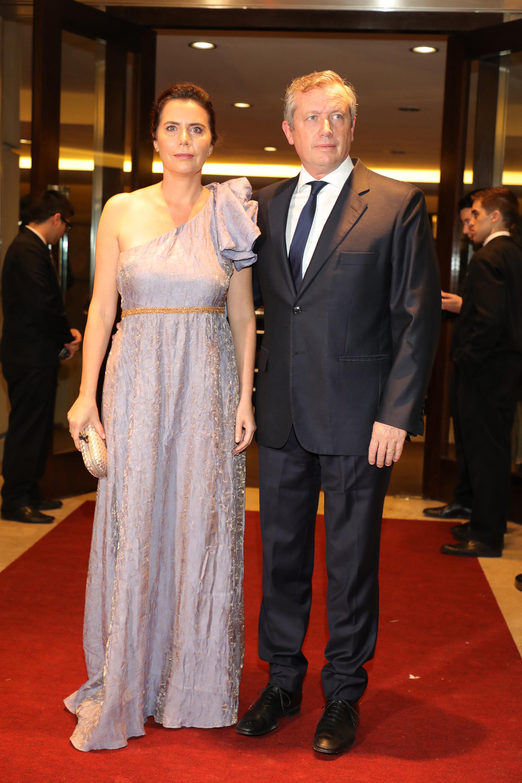 El presidente de la Cámara de Diputados, Emilio Monzó, y su mujer Karen Sánchez