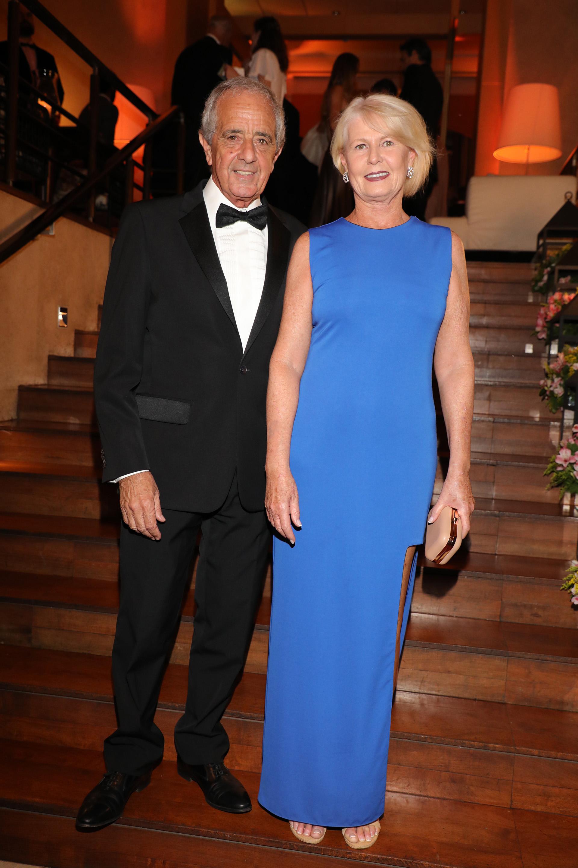 El presidente de River, Rodolfo D'Onofrio, y su mujer Patricia