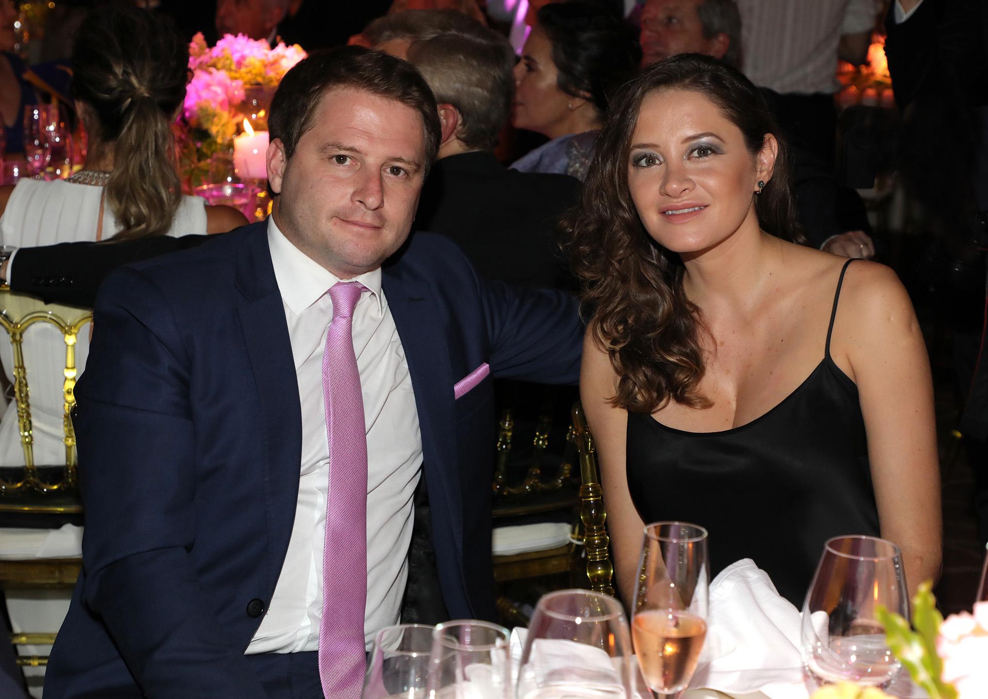 Alex Campbell y su mujer Melina Gadano