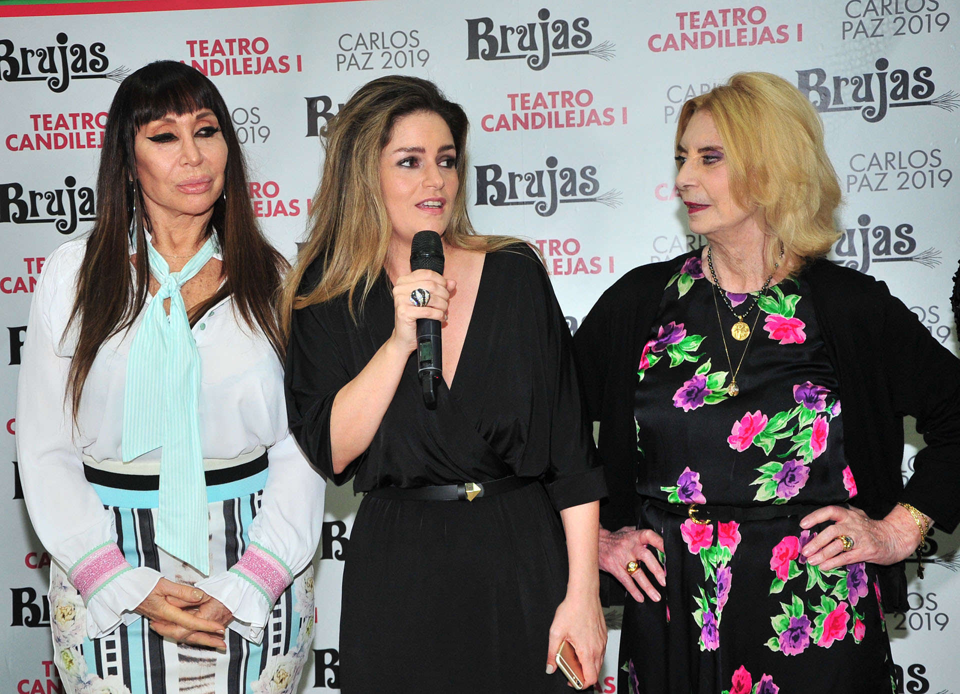 Moria Casán, Romina Ricci y Graciela Dufau