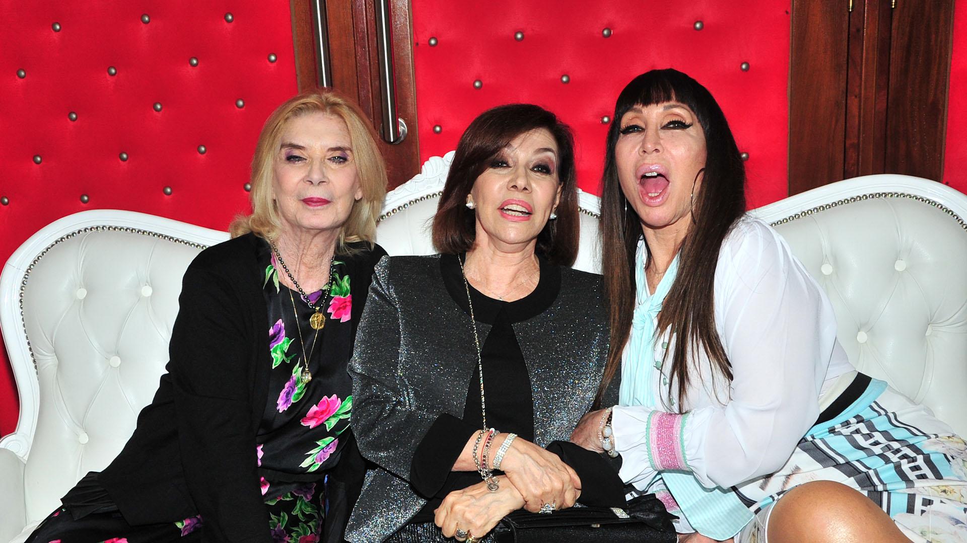 Graciela Dufau, Nora Cárpena y Moria Casán, integrantes del elenco original