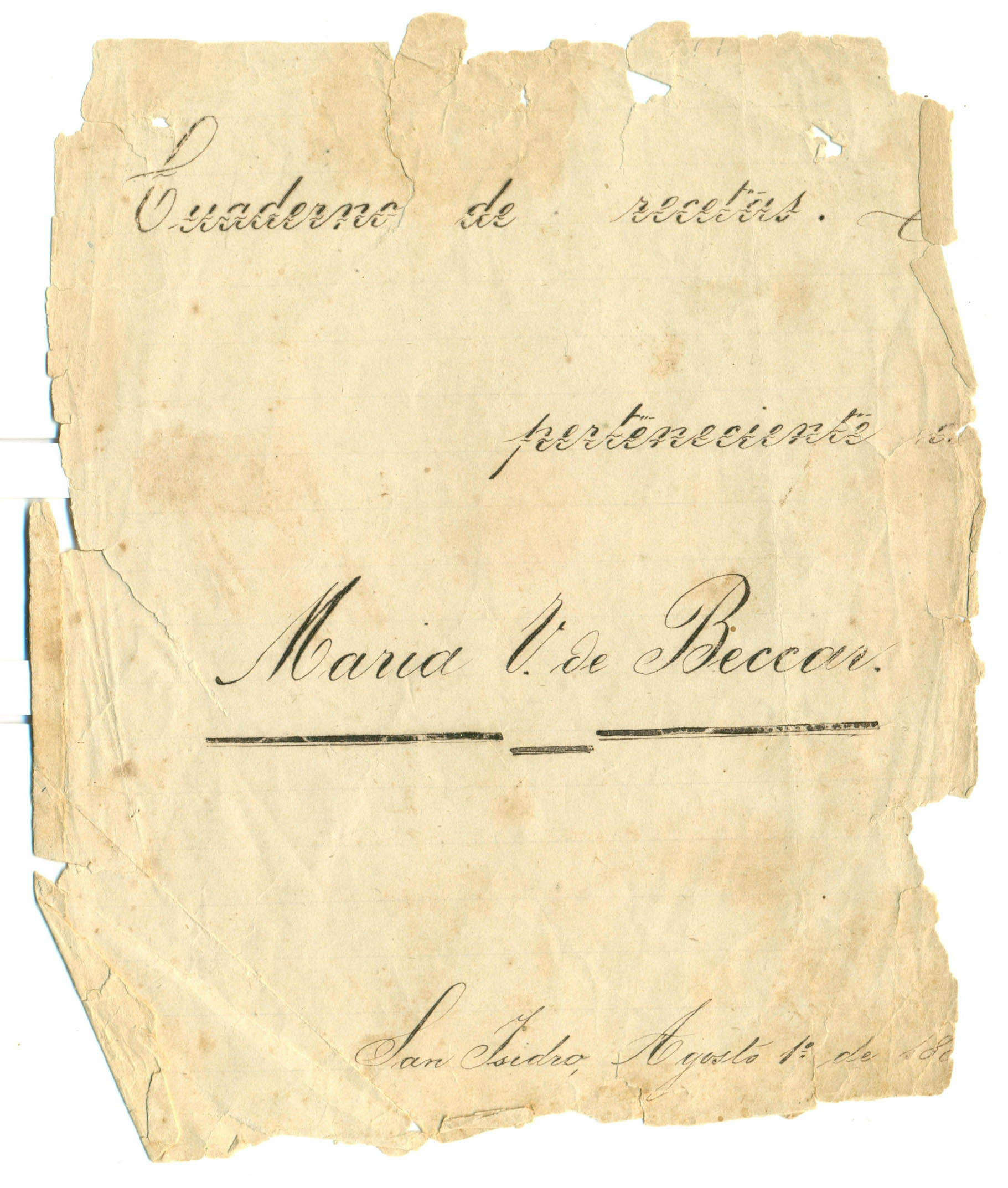 El manuscrito encontrado, que data de 1881
