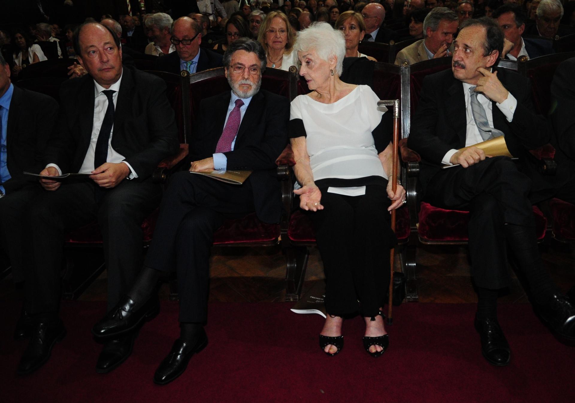 Ernesto Sanz, Alberto Abad, Graciela Fernández Meijide y Ricardo Alfonsín