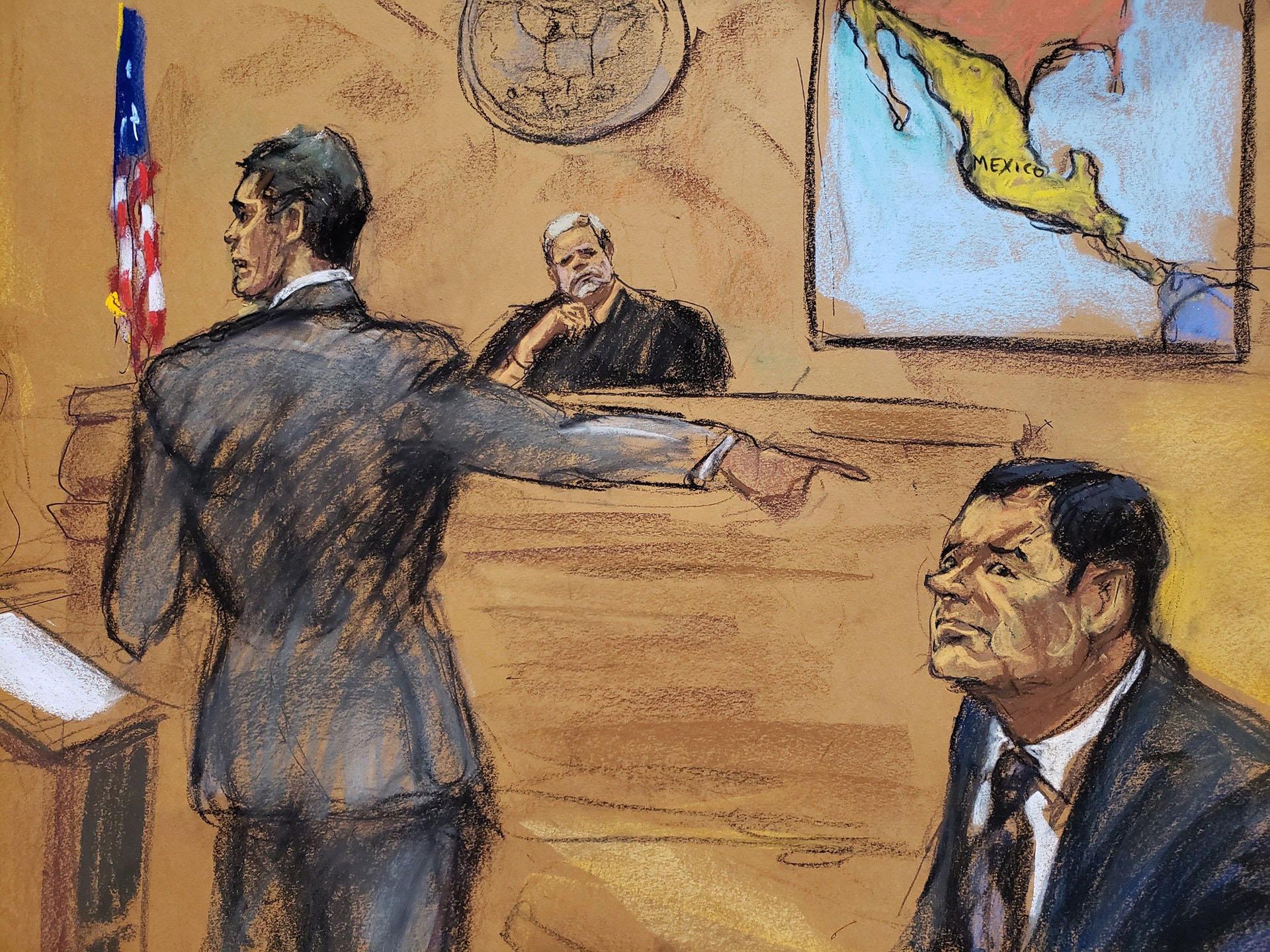 El estrés postraumáticoes un peligro que amenaza a los jurados del Chapo Guzmán.(EFE)