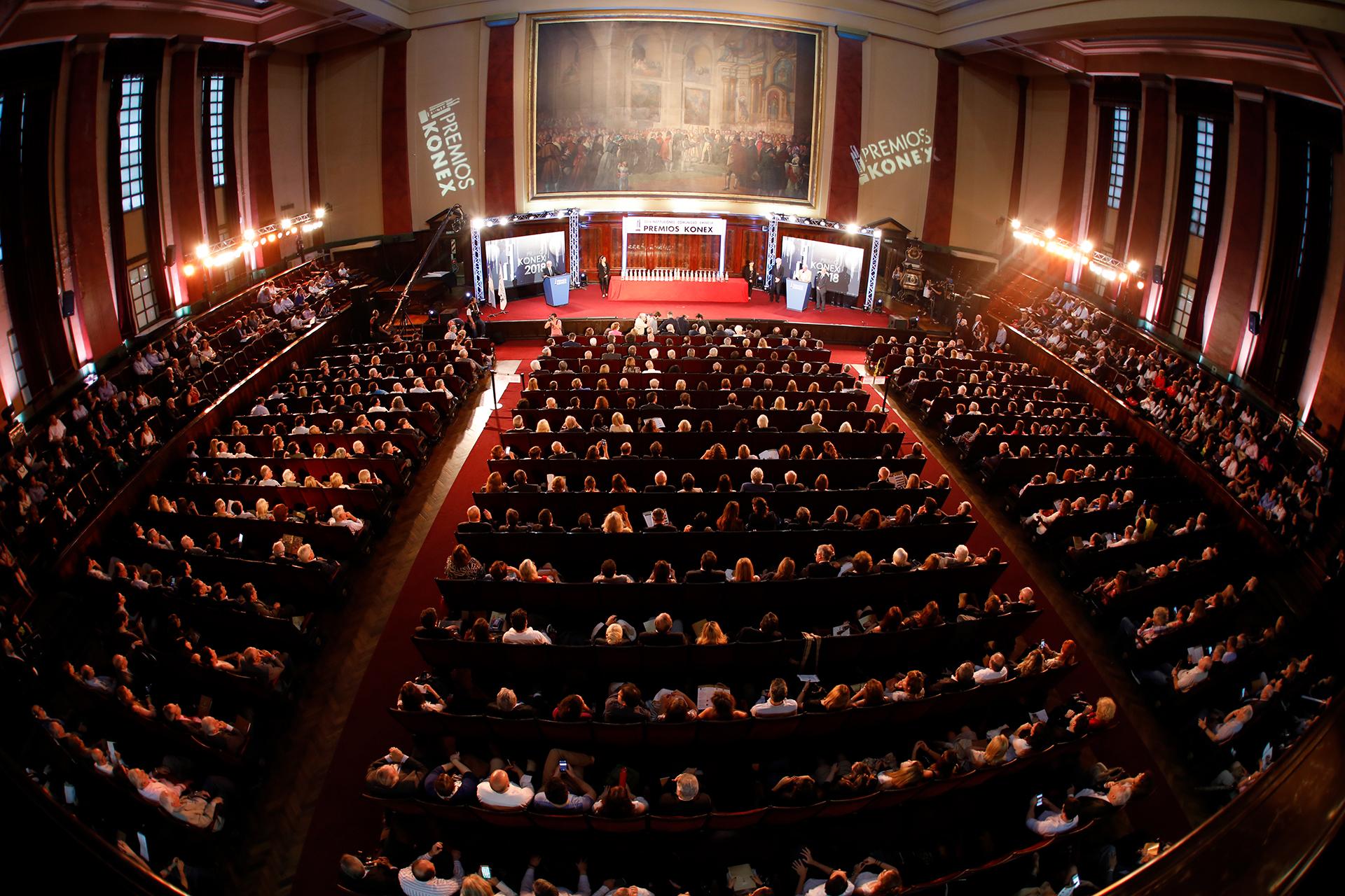 El Acto Culminatorio de los Premios Konex 2018, que se llevó a cabo en el Salón de Actos de la Facultad de Derecho de la Universidad de Buenos Aires ///