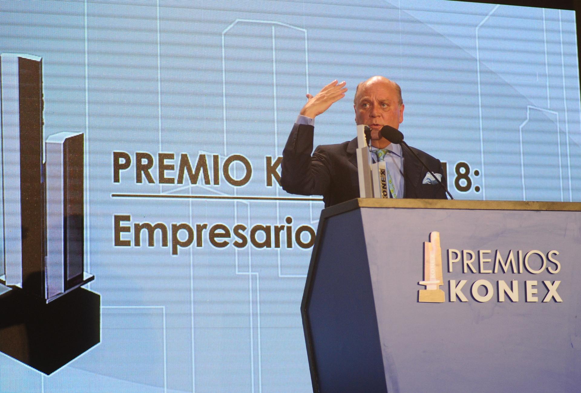 Martín Cabrales durante su discurso