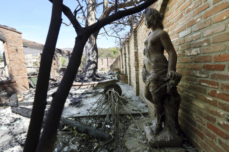 La villa del presentador alemán Thomas Gottschalk quedó en ruinas