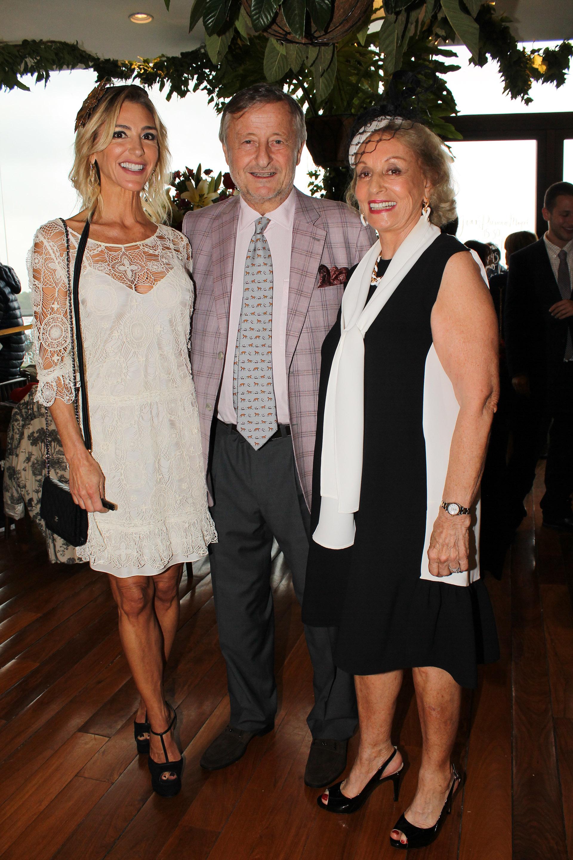 Gabriela Castellani, Cristiano Rattazzi y Miriam Bagó