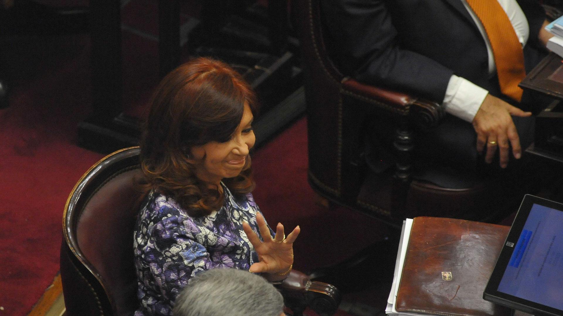 Cristina Kirchner fue al recinto a debatir el Presupuesto