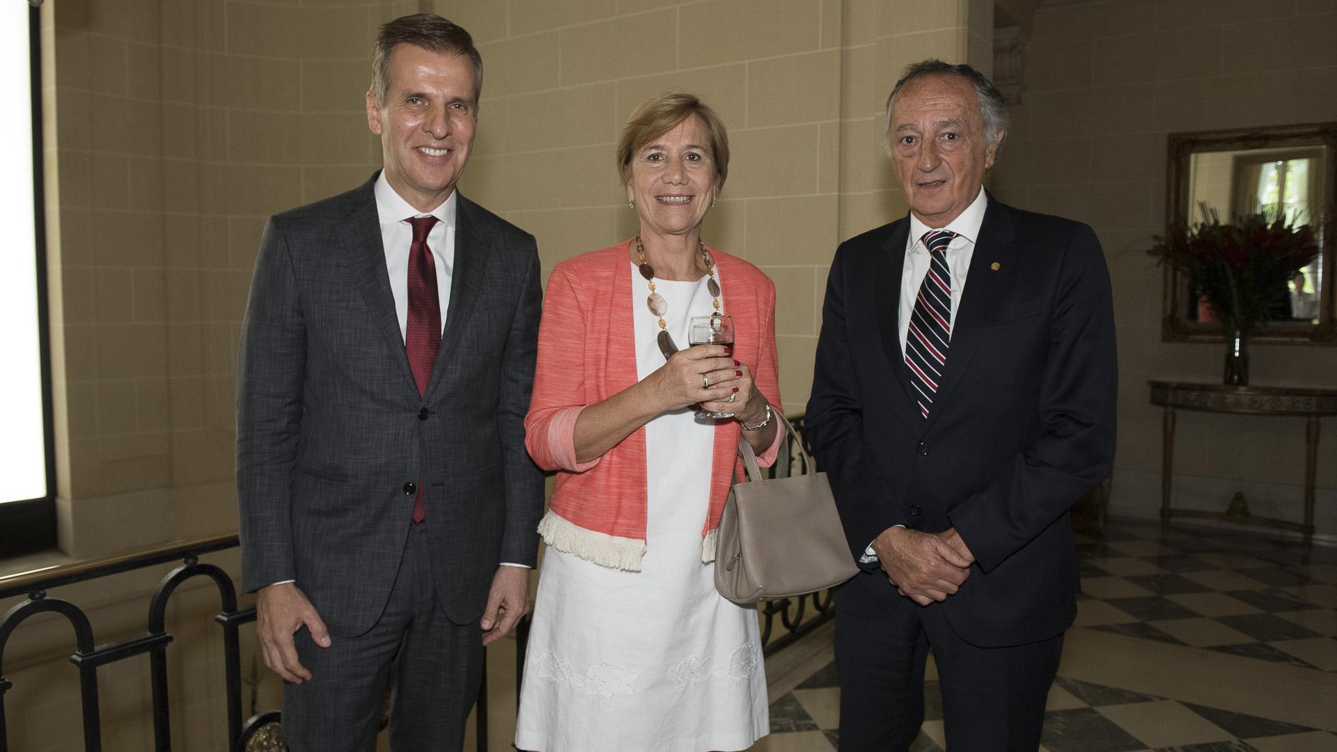 Martín Redrado, María José Sarmiento y Miguel Acevedo