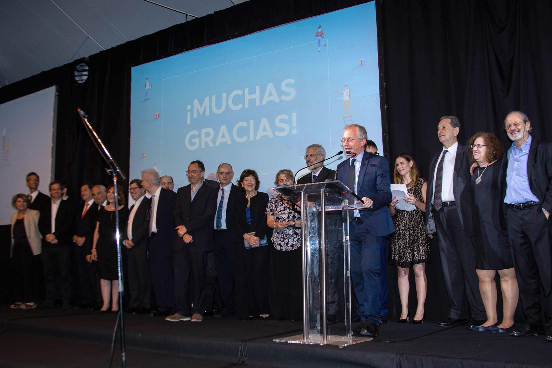 El saliente rector de la Universidad Torcuato Di Tella, Ernesto Schargrodsky, brindó un discurso