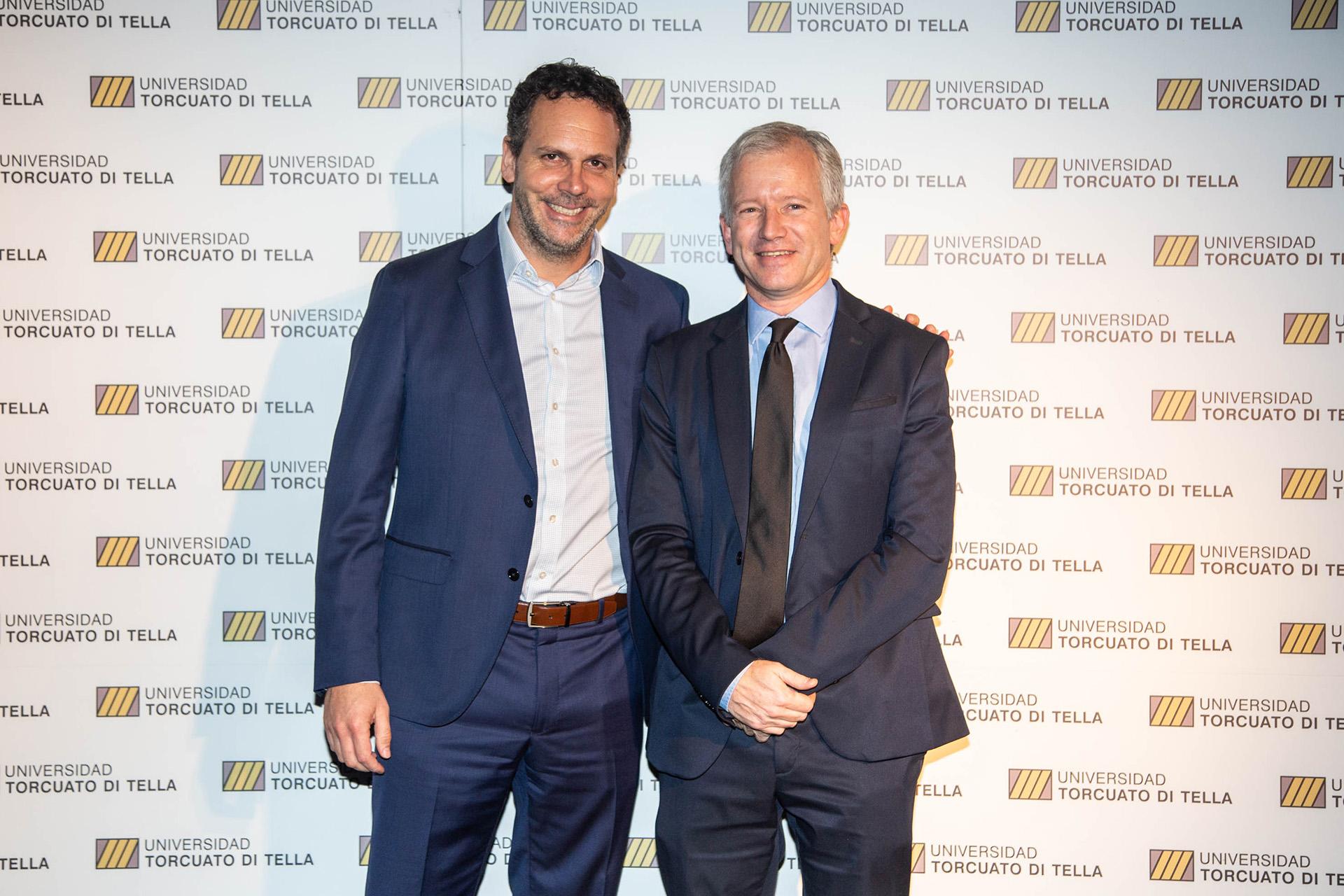 El presidente del Banco Central, Guido Sandleris, y Schargrodsky