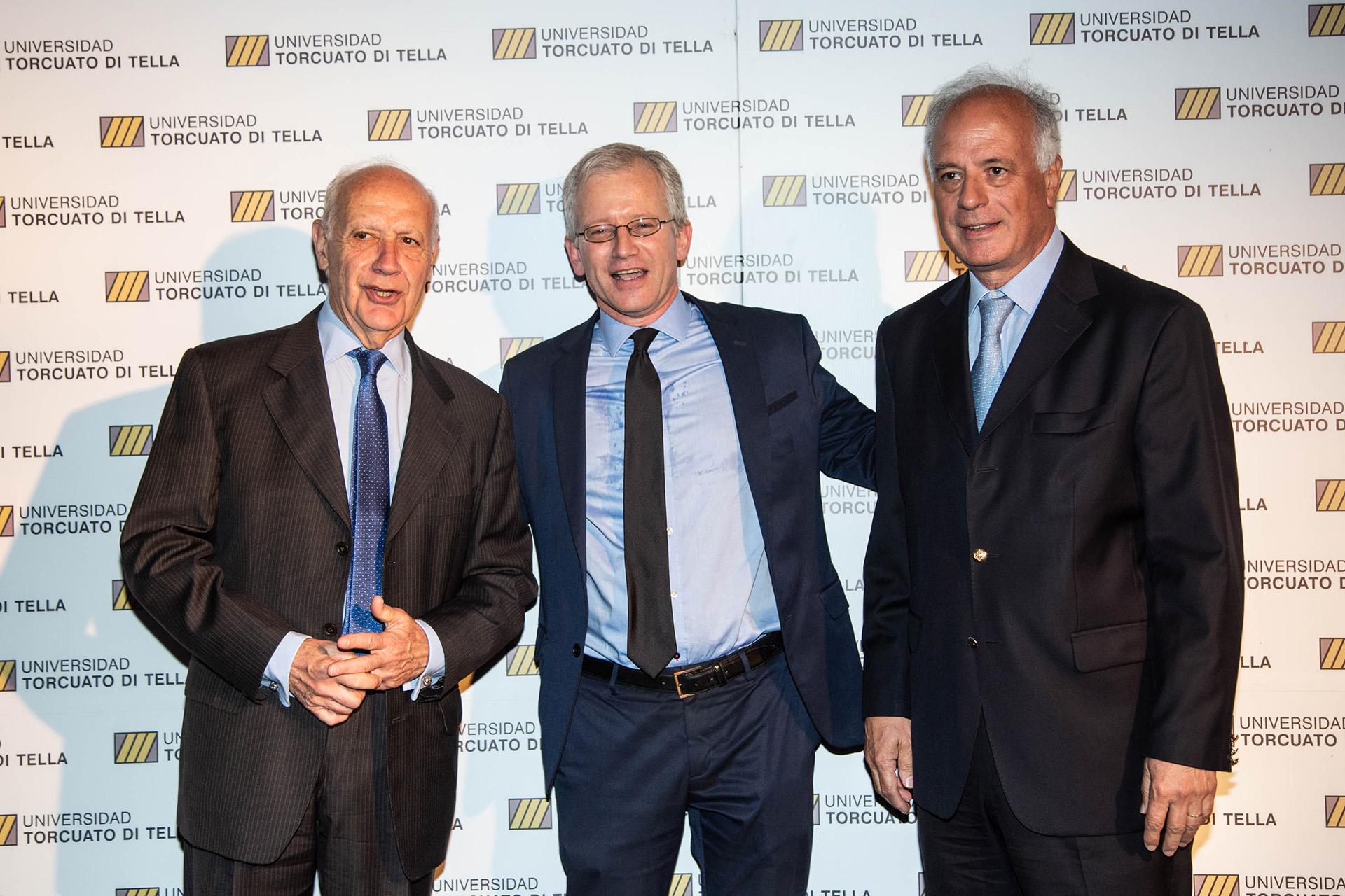 El ex ministro de Economía, Roberto Lavagna, Ernesto Schargrodsky y el dirigente radical Enrique Nosiglia