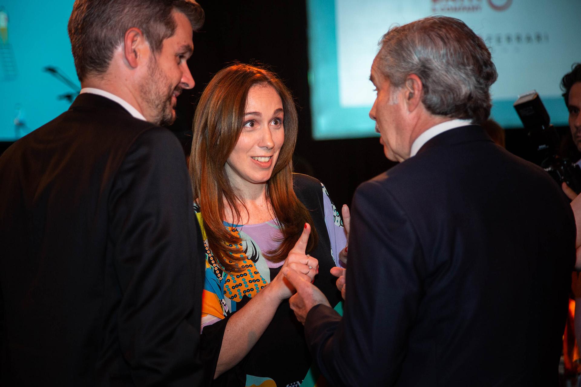 Felipe Solá, Marcos Peña y María Eugenia Vidal